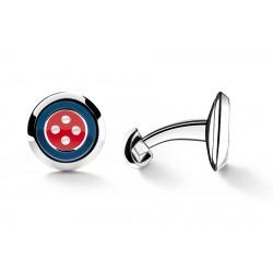 Cufflinks Button Blue&Red