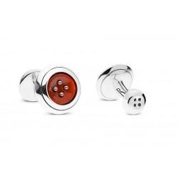Cufflinks Button Ginevra Red