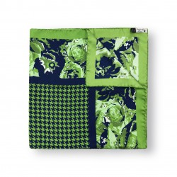 Scarf Abstract Flowers - Green