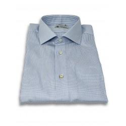 Camicia Jacquard Azul -...