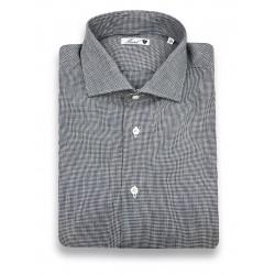 Camicia Pied de Poule Lino...